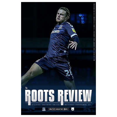 Southend United V Mansfield 2020/21 ~ League 2 Programme 23/1/2021 ~ Pre Order • 4.49£