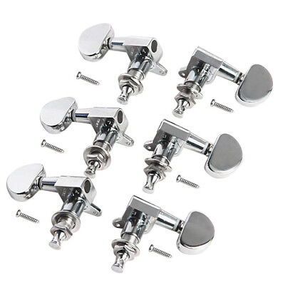 $15.99 • Buy 3L3R Acoustic Guitar String Tuning Pegs Tuners Keys Machine Heads Chrome