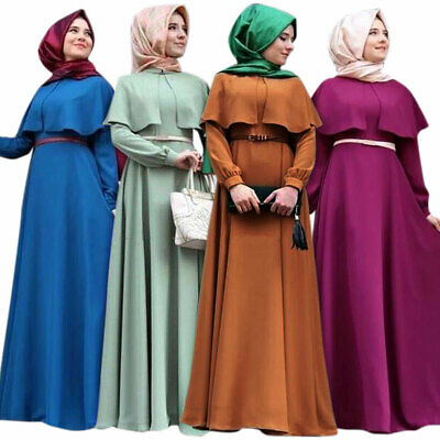 AU29.63 • Buy Women Muslim Dubai Maxi Dress Islamic Abaya Jilbab Party Long Kaftan Robe Gown