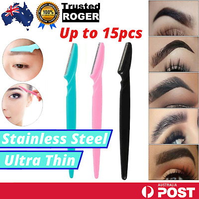 AU12.95 • Buy 3pc Facial Eyebrow Razor Trimmer Shaper Shaver Blade Knife Hair Remover AU