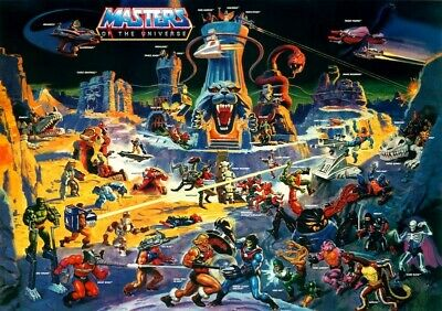 $14.94 • Buy He-Man Masters Of The Universe  Eternia  POSTER 1986 Rare Large MOTU