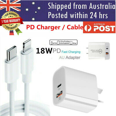 AU17.99 • Buy For IPhone 12 Pro Max 11 IPad 18W USB Type-C Wall Fast Charger PD Power Adapter