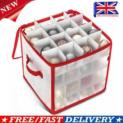 64 Bauble Storage Box Christmas Xmas Tree Decoration Organiser Baubles Decor Bag • 11.39£