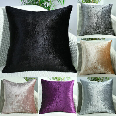 $ CDN6.56 • Buy NEW Crushed Velvet Cushion Covers Luxury Plush Plain 17 X17 , 22 X22 , 24 X24