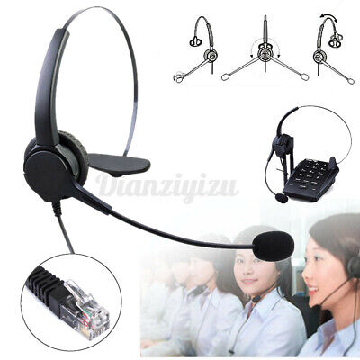 £7.29 • Buy RJ11 Call Center Operator Telephone Headset Noise Cancelling With Rophone