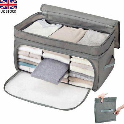 Clothes Bedding Storage Box Zipped Organiser Cube Bags Multi-compartment Large • 10.76£