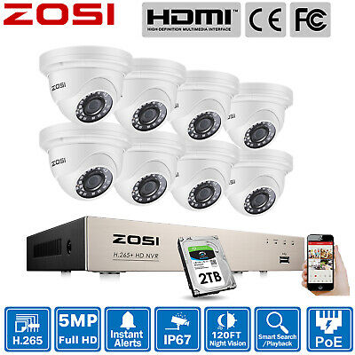 AU391.59 • Buy ZOSI 4K 8CH NVR POE HD 5MP Outdoor Security Camera System IP Network Home 0-2TB