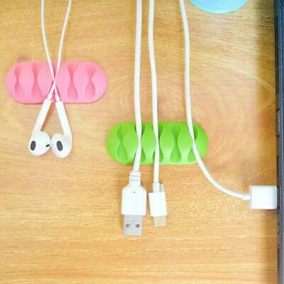 Cable Drop Clip USB Wire Cord Desk Tidy Organiser Lead Charger Holder IPhone Mac • 2.25£
