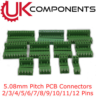$3.48 • Buy Green PCB Terminal Block Connector 5.08mm Pitch 2 3 4 5 6 7 8 10 11 12 PIN