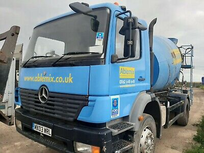 Mercedes Cement Mixer 18 Tonner Drives & Works  Spare Or Repair • 4,300£
