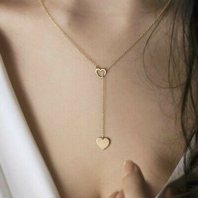 $3.99 • Buy Women's Fashion Jewelry 925 Sterling Silver Gold Plated Infinity Heart Necklace