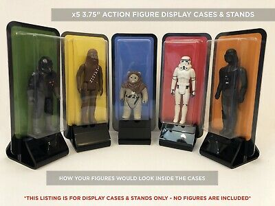 """£20 • Buy Star Wars / 3.75"""" Action Figure Display Cases & Stands X5 Pack"""