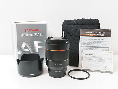 AU760 • Buy Samyang 50mm F1.4 FE Full-frame AF Lens For Sony A7 A7R A7S ~As New