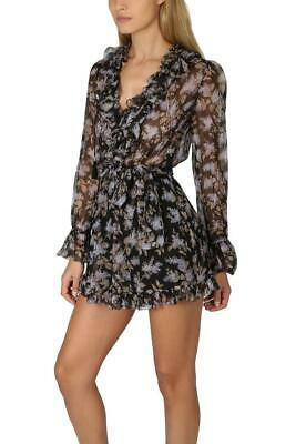AU180 • Buy Zimmermann - Size 0P - Long Sleeve Stranded Ruffle Playsuit - ⚫️ READ ⚫️