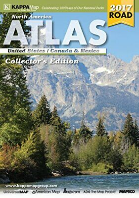 2017 NORTH AMERICA DELUXE ROAD ATLAS By Kappa Map Group **BRAND NEW** • 25.71£