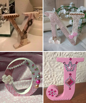 ❤ Reduced SALE MDF Wooden Letters. Clearance Capital Freestanding Initials. 8cm • 0.99£
