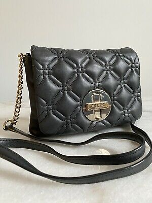 $ CDN60 • Buy Kate Spade  Black  Quilted Leather Chain Crossbody  Bag