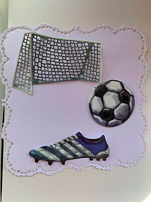Tattered Lace Men X3 Die Cuts Card Topper Birthday Football • 2.70£