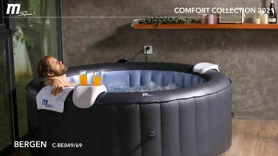 Mspa Inflatable Hot Tub Jacuzzi Spa Ottoman Bergen 6/4 Person 2 Year Guarantee • 449.95£