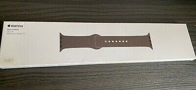 BNIB Genuine Apple Watch Strap Sport Band Cocoa Stainless Steel Pin 38mm RRP £49 • 39.99£