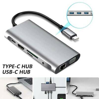 AU39.89 • Buy 10in1 HDMI Adapter Multiport Type C To USB-C 4K USB 3.0 Cable Hub For Macbook