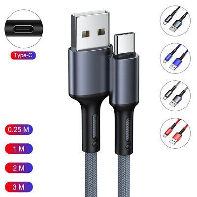 AU5.88 • Buy 1M 2M 3M USB-C Type C QC3.0 Fast Charging Charger Cable Data Sync Charge Cord