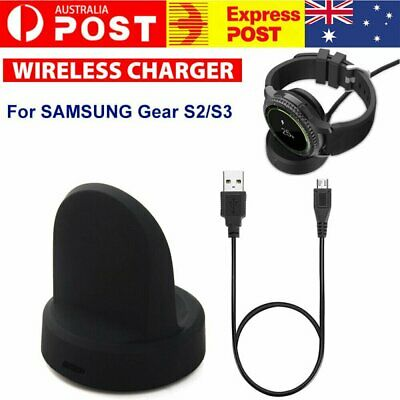 AU12.99 • Buy Wireless Charging Charger Dock For Samsung Galaxy Smart Watch Gear S2 S3 Cradle