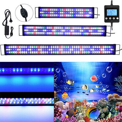 AU75.29 • Buy 60-180cm Aquarium LED Lighting Full Spectrum Fish Tank Light OverHead Lamp Timer