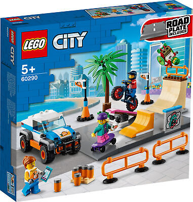 New! 60290 LEGO City Skate Park Set With Minifigures Includes 195 Pieces Age 5+ • 27.99£