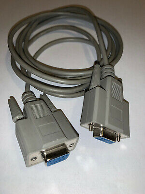 £2.99 • Buy Serial RS232 Extension Cable 9 Pin Female To Female 2m