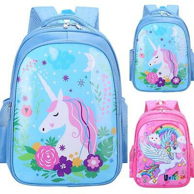 AU33.79 • Buy Kids Toddler Girls Unicorn Backpack Child Shoulder School Book Bags Rucksack New