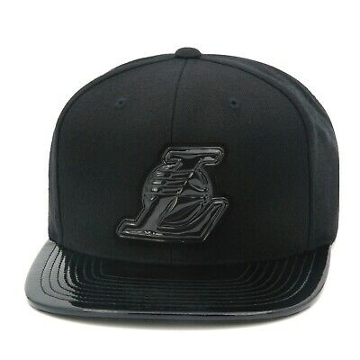 Mitchell & Ness Los Angeles LA Lakers Snapback Hat All Black/Patent Leather/ L  • 24.96£