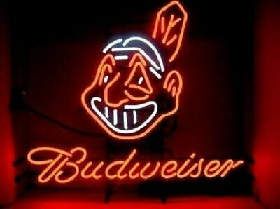 $ CDN72.56 • Buy New Budweiser Cleveland Indians Neon Sign 17 X14