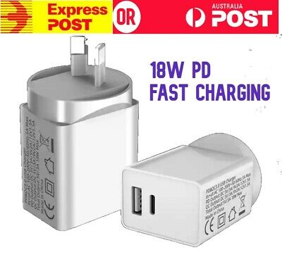 AU6.99 • Buy PD 18W USB Type C Fast Wall Charger Adapter For IPhone 12 11 Pro Apple Android