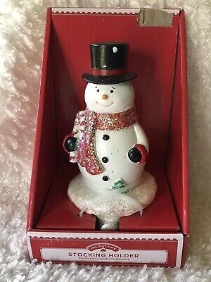£9.71 • Buy 🎄Holiday Time Snowman Christmas Stocking Holder