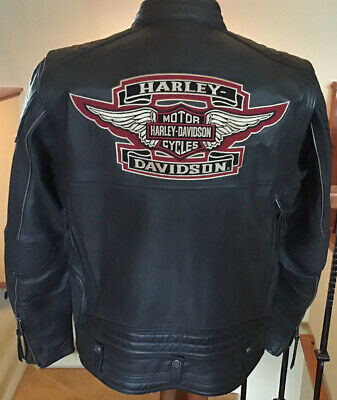 $ CDN348.89 • Buy HARLEY DAVIDSON Men's Size LARGE Vented Leather Racing Jacket In Great Condition