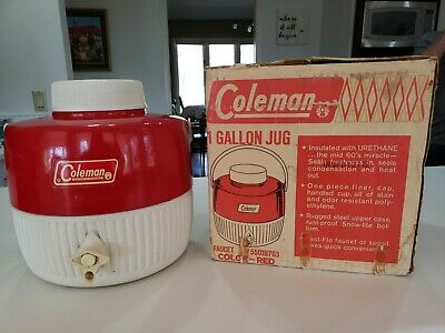 $39 • Buy Vintage Coleman Water Jug 5501b703 1 Gallon Red And White