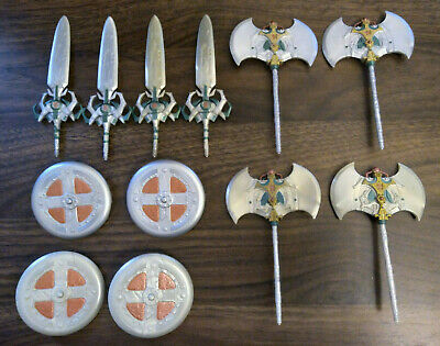 $90 • Buy MOTU 200x He-Man Masters Of The Universe Weapon Accessory Lot Swords Axe Shields