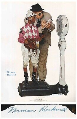 $ CDN1275.90 • Buy Weighing In Norman Rockwell Large Signed Print