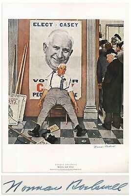 $ CDN1275.90 • Buy Before And After Norman Rockwell Large Signed Print