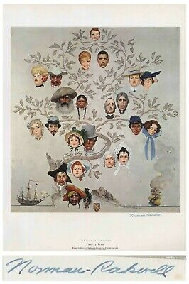 $ CDN1275.90 • Buy Family Tree Norman Rockwell Large Signed Print