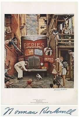 $ CDN1275.90 • Buy Roadblock Norman Rockwell Large Signed Print