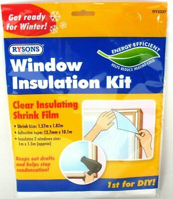 £3.25 • Buy 🔥window Insulation Fit Double Glazing Shrink Film Draught Excluder Condensation
