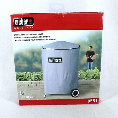 $ CDN27.56 • Buy Weber 8551 Standard Charcoal Grill Cover Gray Vinyl 18.5