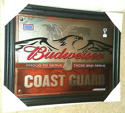 $ CDN252.57 • Buy Budweiser United States Coast Guard Mirror(new)american Eagle Dog Tags Beer Sign