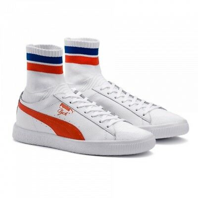 PUMA - CLYDE SOCK NYC - 364948 04 - Men's Shoes - White Orange Blue - Size 10 • 56.18£