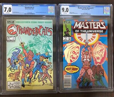 $140 • Buy Thundercats 1 CGC 7.0 + Masters Of The Universe 1 (1986)(newsstand) CGC 9.0