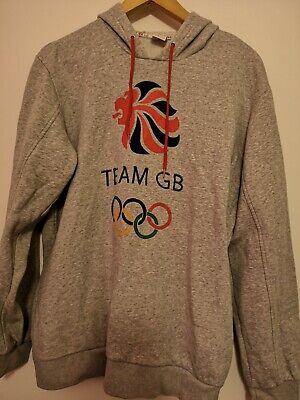 Team GB Great Britain Olympics Superb Grey Hoodie Size Adult Large • 14.99£