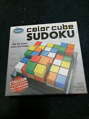 Thinkfun Color Cube Sudoku Puzzle Game Flip The Cubes Solve The Puzzle Brand New • 9.30£