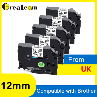 £23.99 • Buy Compatible Brother TZ-231 P-Touch Black On White Label Tape 12mm X 8m TZe-231